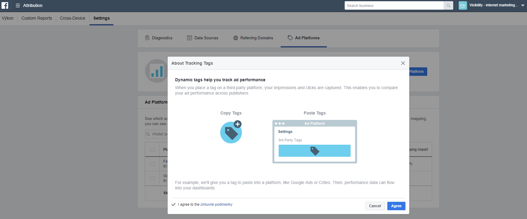 Facebook Attribution - Tracking tags