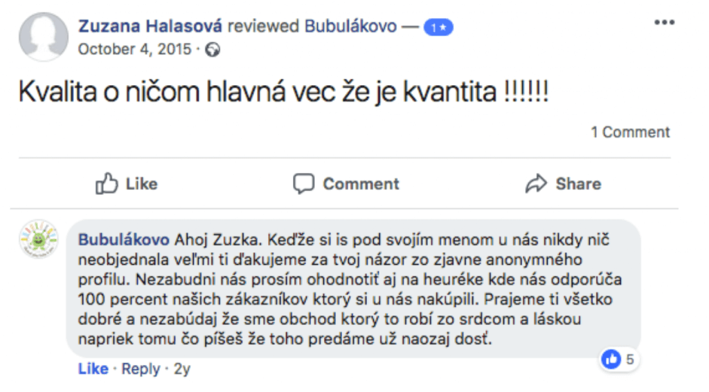 Bubulakovo Facebook