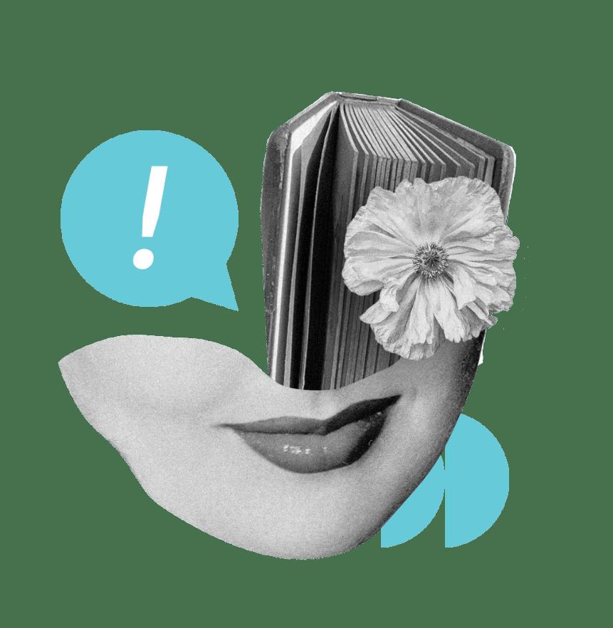 Ženská tvár s knihou