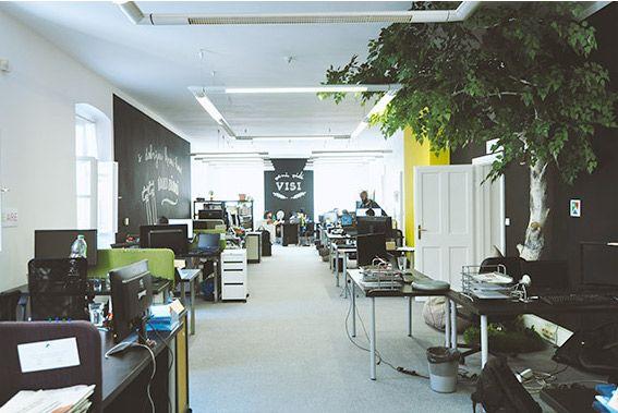 vnutorné priestory kancelárie visibility