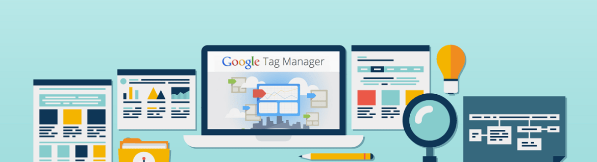 notebook so stránkami a lupou google tag manager