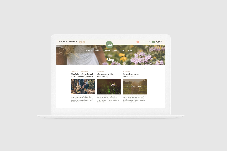 vizuál stránky navia homepage