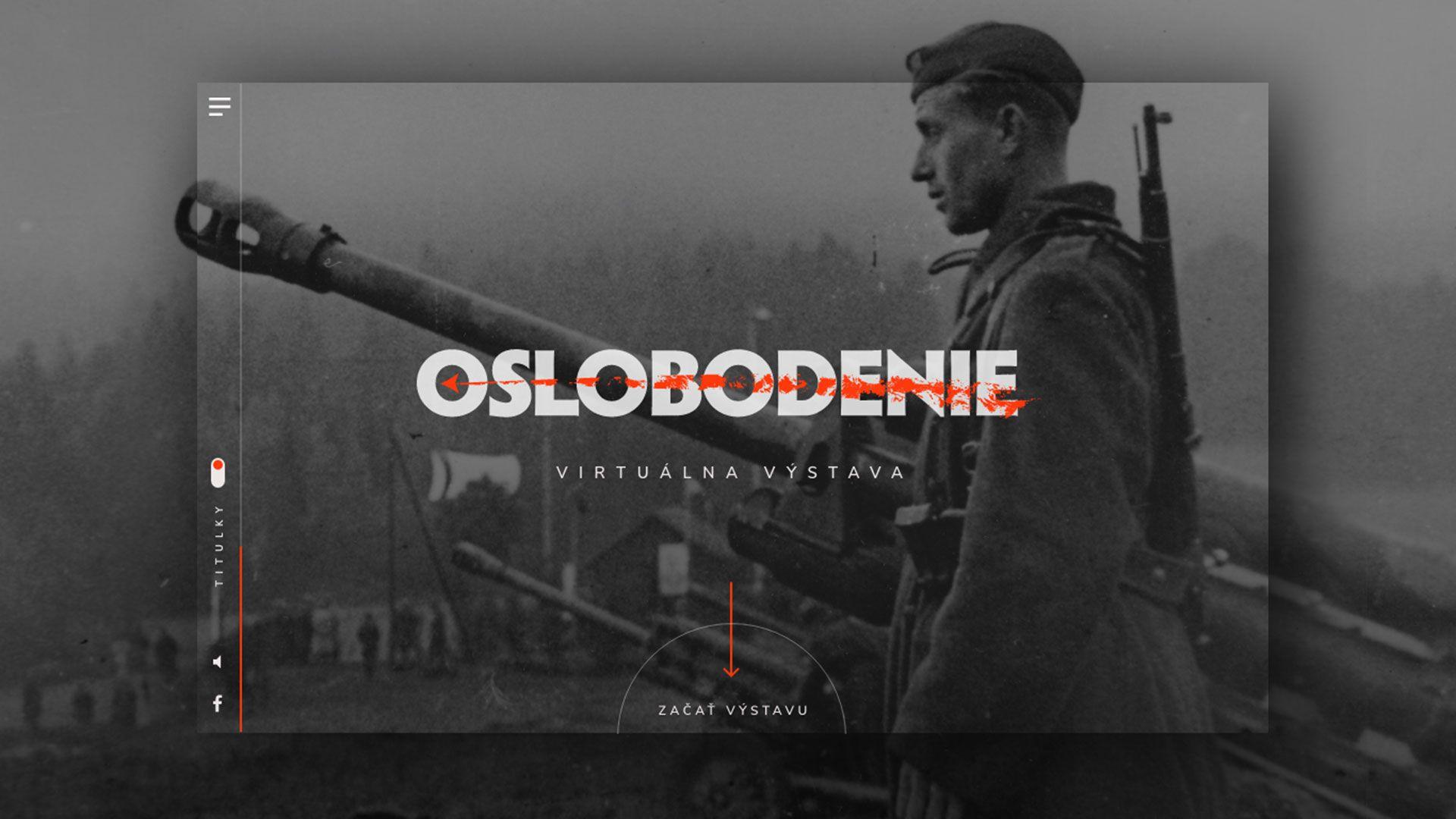 vojak stojaci vedľa dela oslobodenie Slovenska
